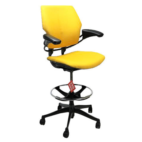 Humanscale Freedom Chair Recovered in New Fabric Aluminium Frames