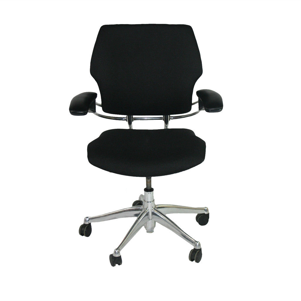 ... Humanscale Freedom Chair Recovered In New Fabric Aluminium Frames ...