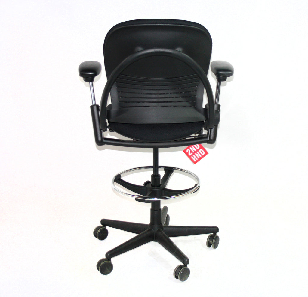 Leap Chair By Steelcase black steelcase leap v1 draughtsman chair – 2ndhnd - quality