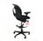 Steelcase Leap V1 Draughtsman Chair Recovered Black Fabric