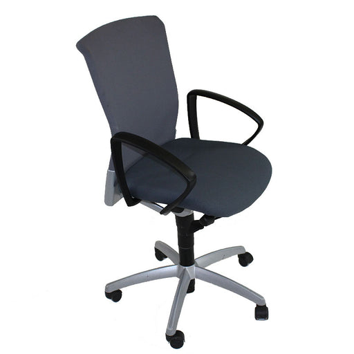 Sedus Chair Grey Mesh Back with New Grey fabric seat