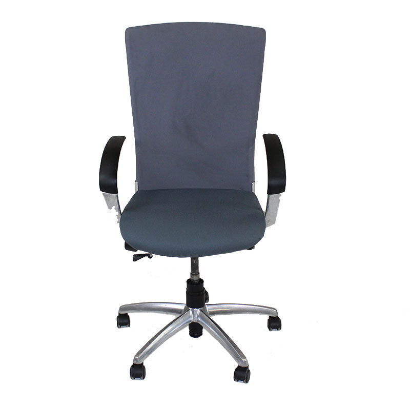 Sedus Chair Grey back new Grey fabric seat Aluminium frame