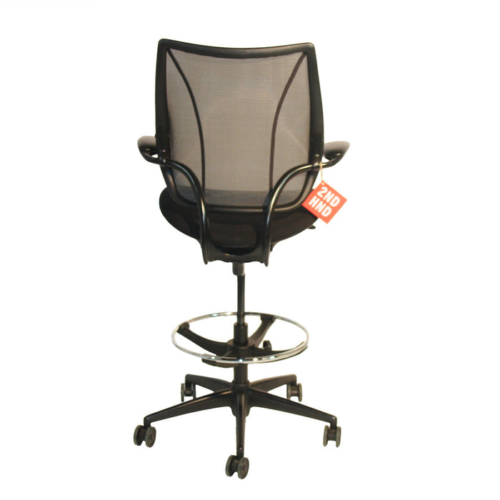 Humanscale Liberty Black Draughtsman Chair