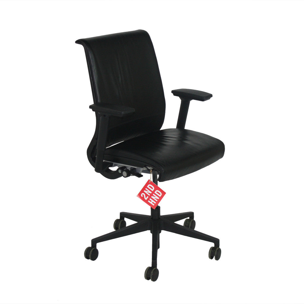 steelcase think office chair. steelcase think chair in original black leather office