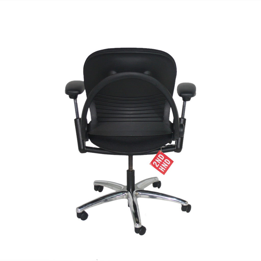 Steelcase Leap V1 Task Chair in New Camira Black fabric