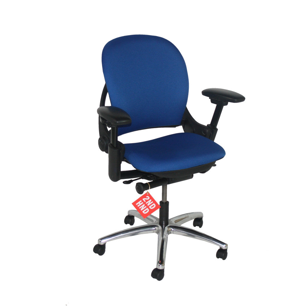 Steelcase Leap V1 Task Chair in New Camira Blue fabric