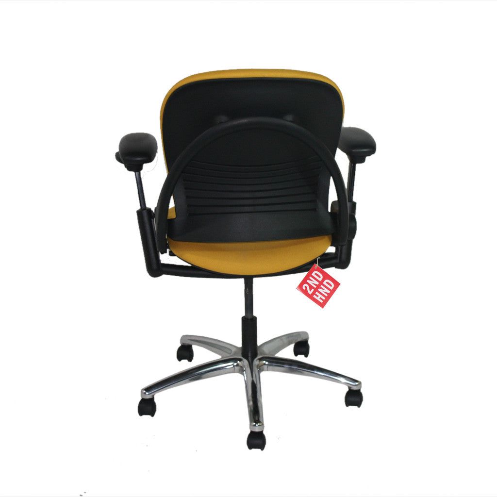 Steelcase Leap V1 Task Chair in New Camira Yellow fabric