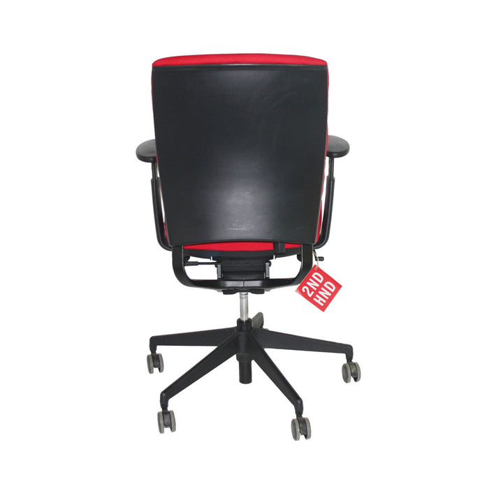 Enigma S21 Black Framed New Red Fabric Task Chair