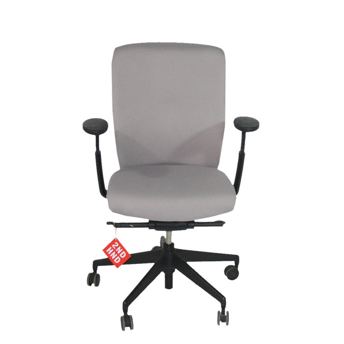 Enigma S21 Black Framed New Grey Fabric Task Chair