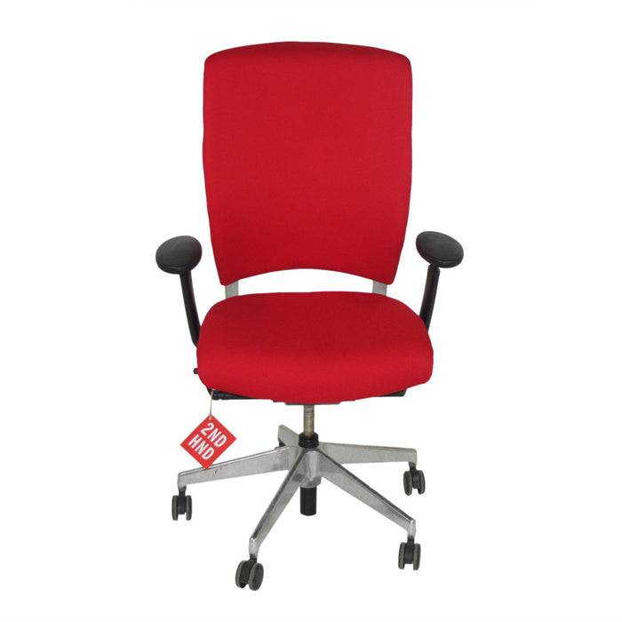 Enigma S21 Aluminium Framed New Red Fabric Task Chair