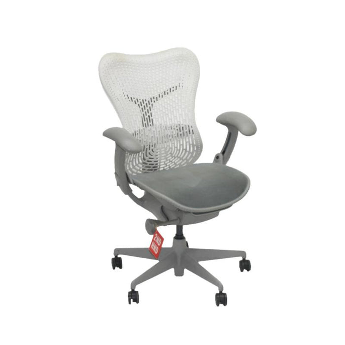 Herman Miller Mirra TriFlex Office Designer Chair with Light Grey Arms