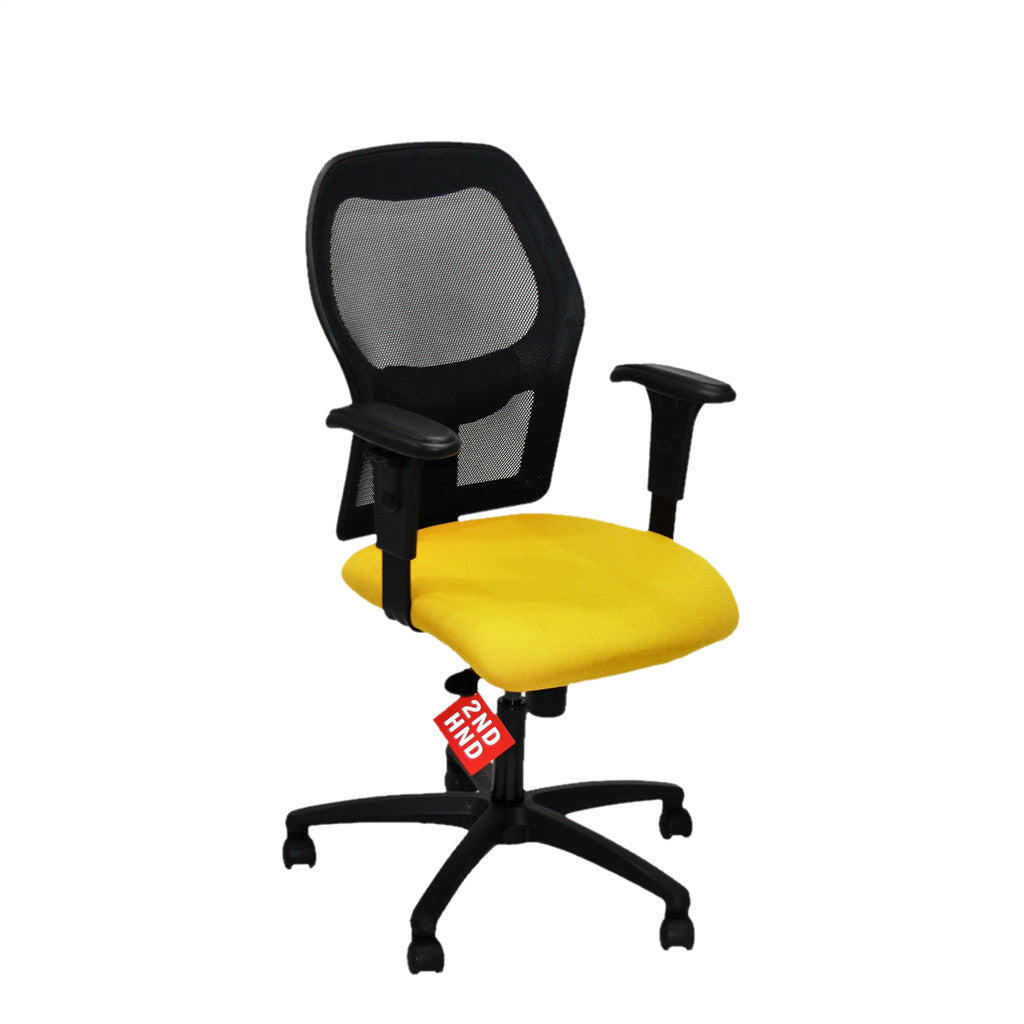 Ahrend 160 Type Yellow Chair with Black base