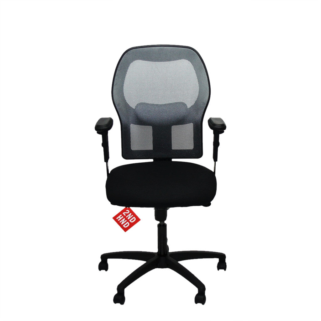 Ahrend 160 type silver mesh task chair