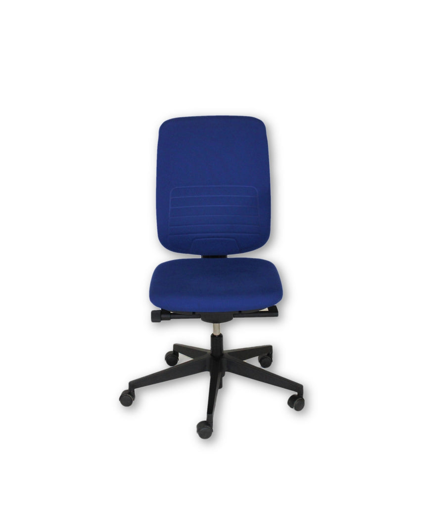 steelcase reply task chair with blue new fabric