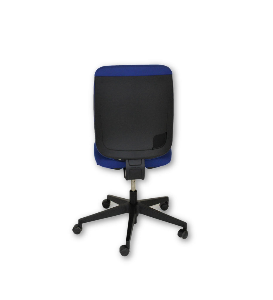 Steelcase Reply Task Chair with Blue Fabric and Black Base