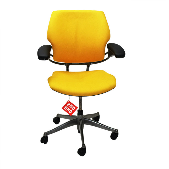 Humanscale Freedom Med Back Chair New Yellow fabric