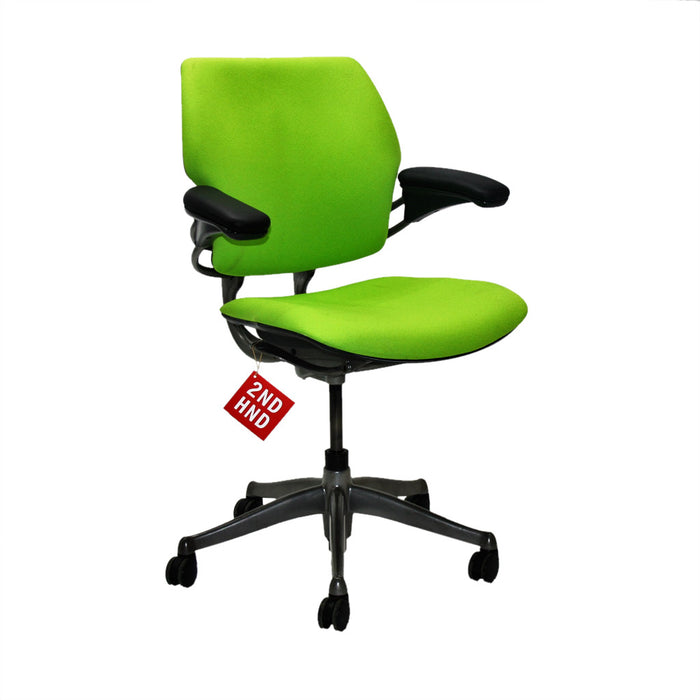 Humanscale Freedom Med Back Chair New Green fabric