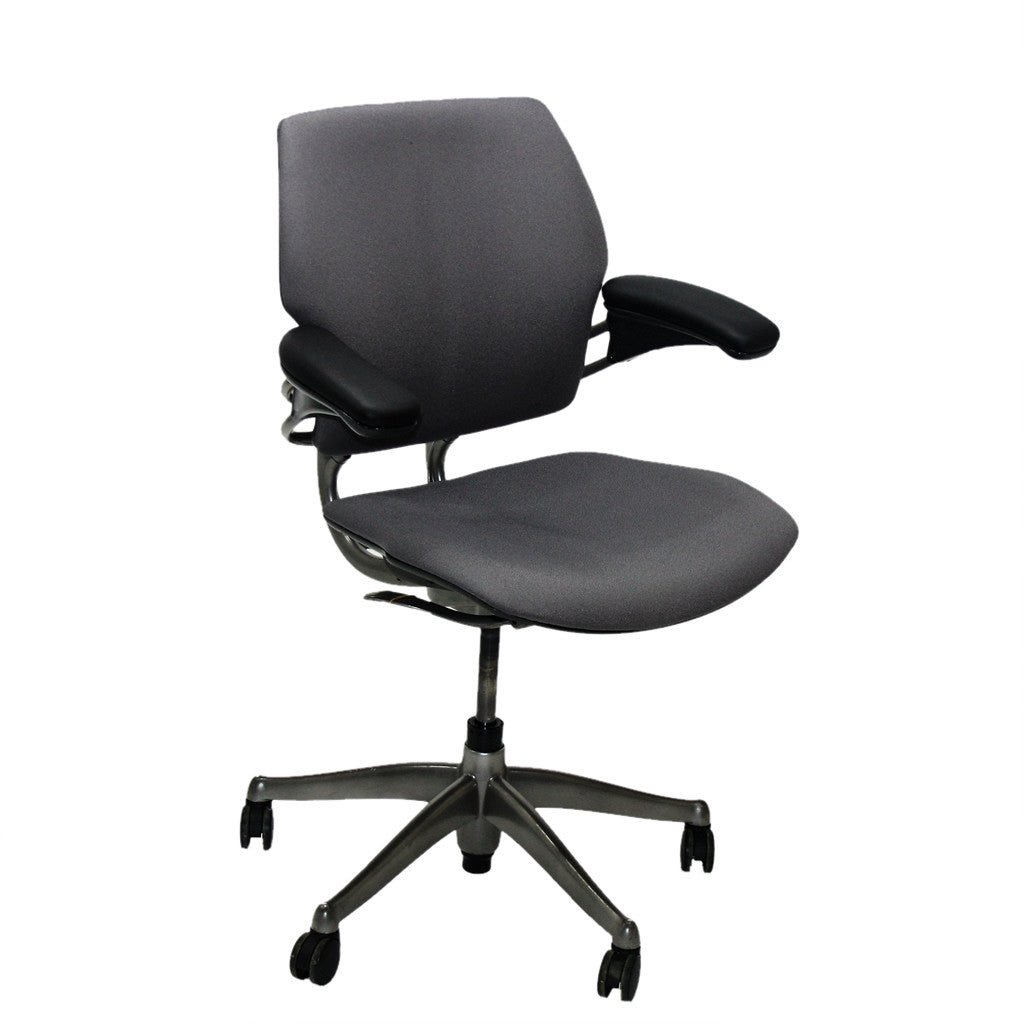 ... Humanscale Freedom Med Back Chair New Grey Fabric ...