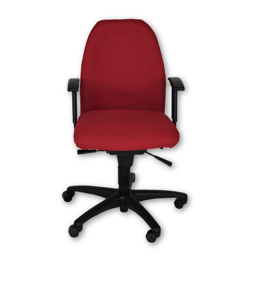Silla operativa Girsberger New Red Fabric