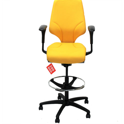 Giroflex G64 Draughtsman chair recovered Yellow