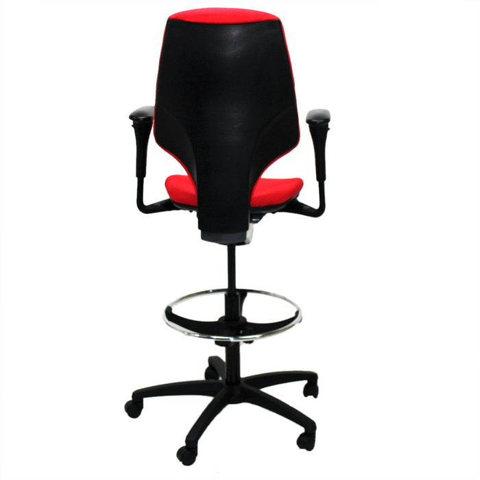 Giroflex G64 Draughtsman chair recovered Red