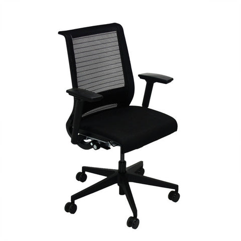 steelcase think office chair in new red fabric 2ndhnd. Black Bedroom Furniture Sets. Home Design Ideas