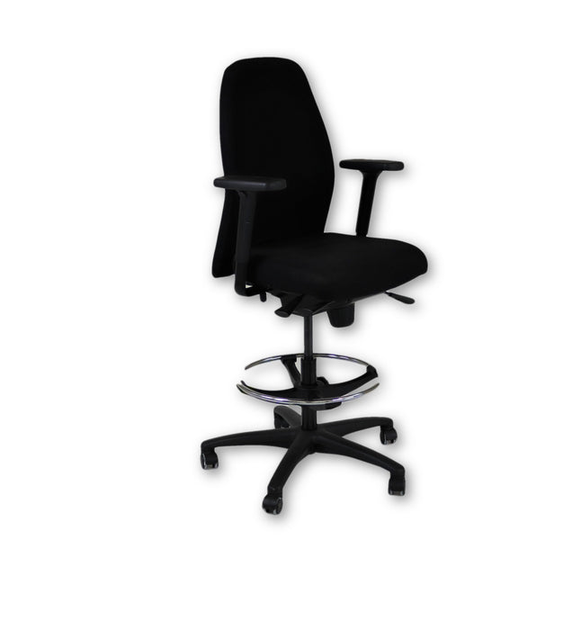 Girsberger New Black Fabric Draughtsman chair
