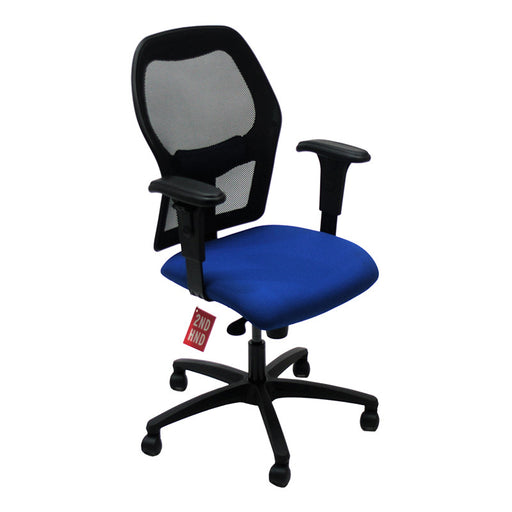 Ahrend 160 Type Blue Chair with Black Base