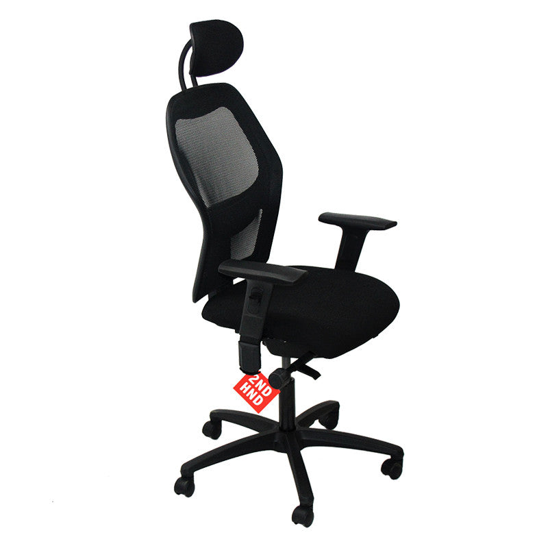 Ahrend 160 Type Task Chair with Headrest and Folding Arms