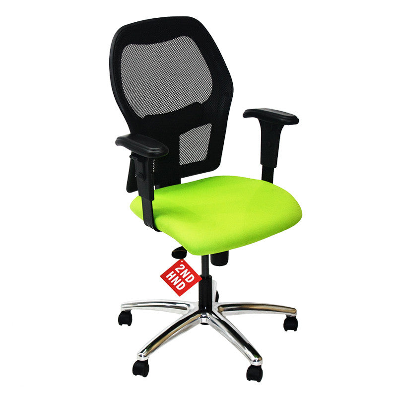 Ahrend 160 Type Green Chair with Aluminium Base