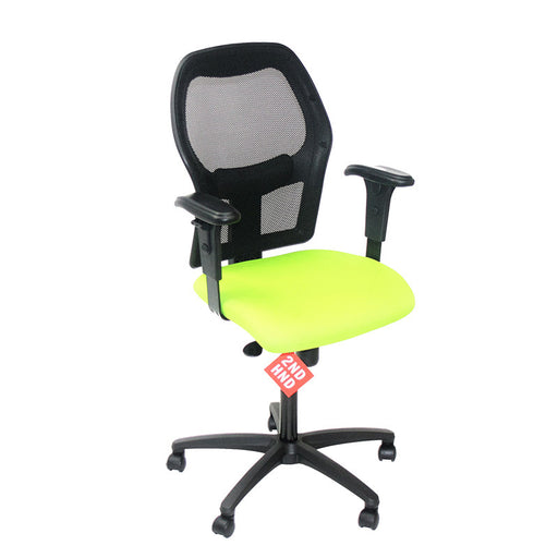 Ahrend 160 Type Green Chair with Black Base