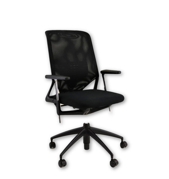 Vitra Meda Hiback  new black fabric seat and Black frame