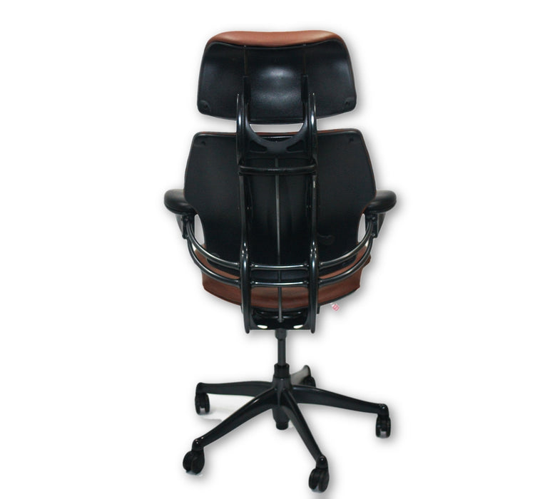 Humanscale Freedom Hi Back Chair with Brown Leather