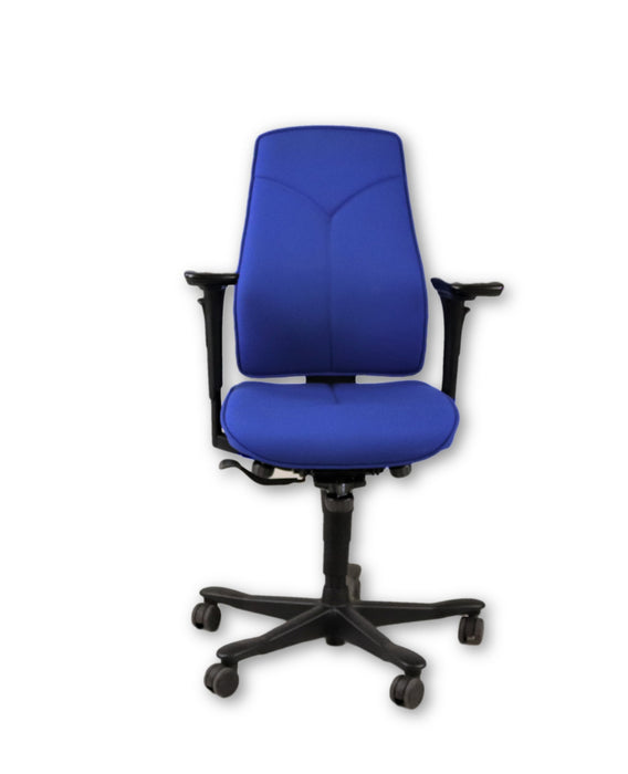 Kinnarps 6000 Task Chair Blue fabric 4D arms