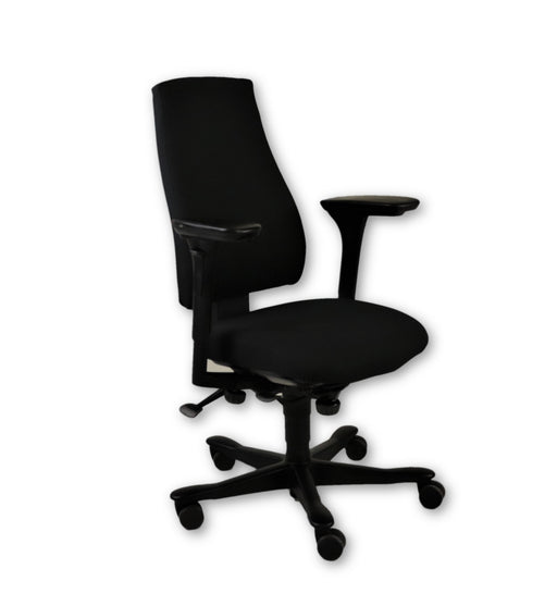 Kinnarps 6000 Task Chair - 4D arms - New Black Fabric