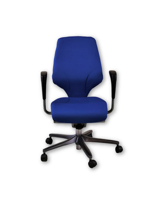 Giroflex G64 Blue Task Chair Height Adjustable Arms