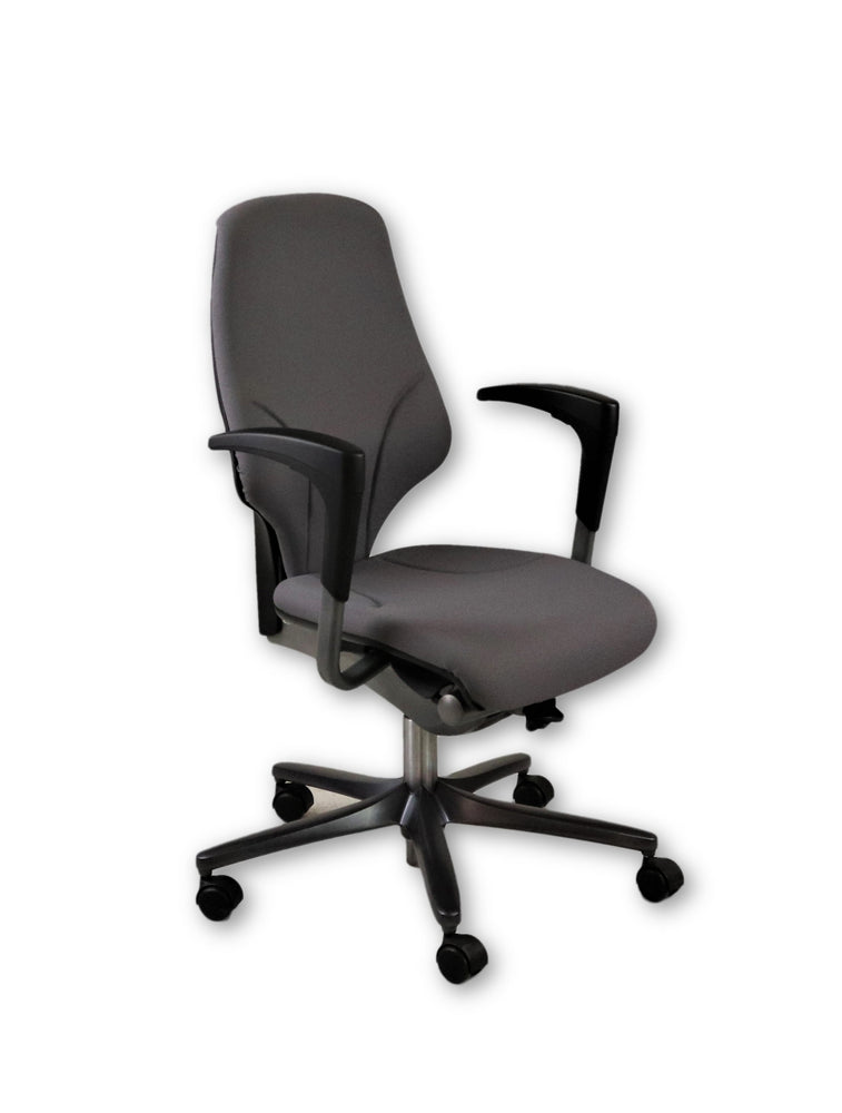 Giroflex G64 Grey Task Chair Height Adjustable Arms