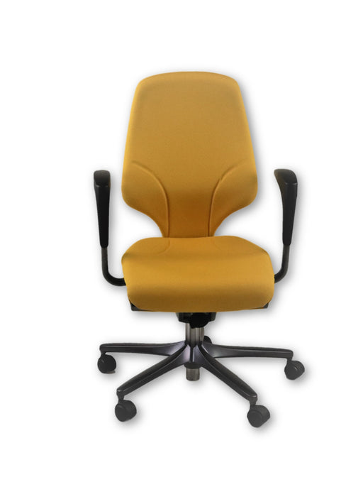 Giroflex G64 Yellow Task Chair Height Adjustable Arms