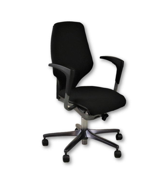 Giroflex G64 Black Task Chair Height Adjustable Arms
