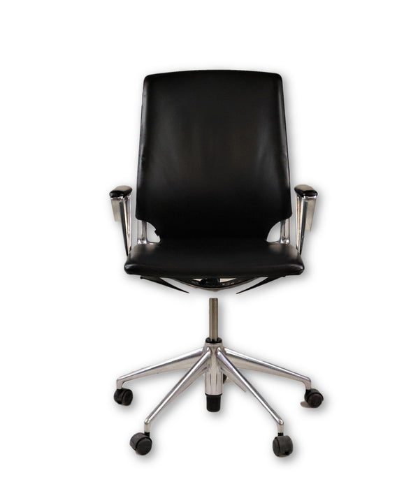 Vitra Meda Hi back  aluminium frame Leather Seat and Leather Back