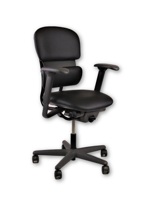 KI Impulse chair ( New Black Genuine Leather )