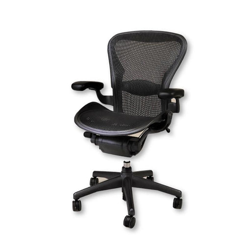 Herman Miller Aeron Chair Size B Graphite ( Fixed Arms)