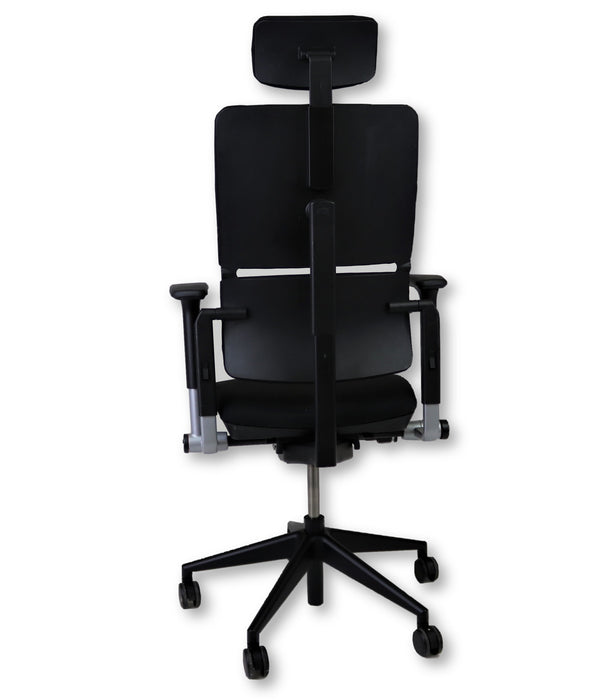 Steelcase Please V2 New Black Fabric chair with Headrest