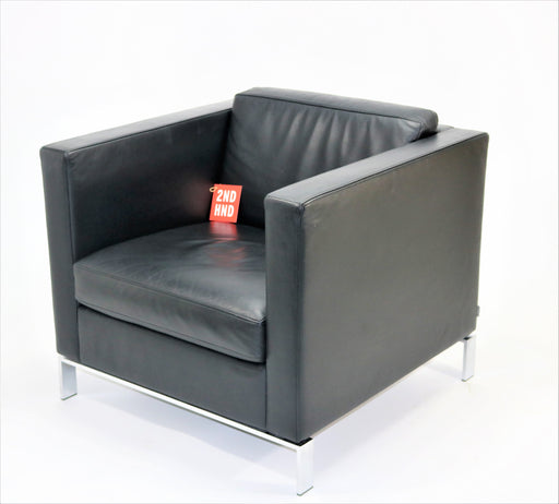 Walter Knoll Norman Foster Single Seater Cuero negro