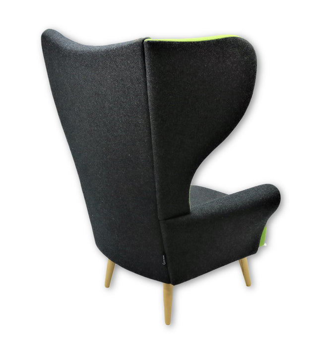 Davidson Highley CRISTIANA WINGCHAIRS Grey with Green trim