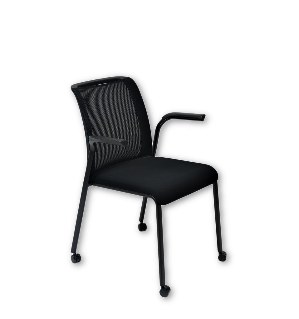 Steelcase Reply Visitor Arm Chairs Black ( New Chairs)