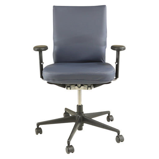 Vitra Axess in New Blue Leather