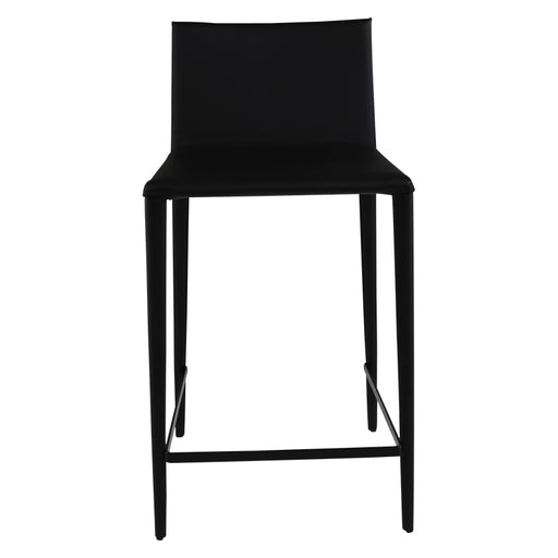 Arper Catifa Black Leather Bar Stool