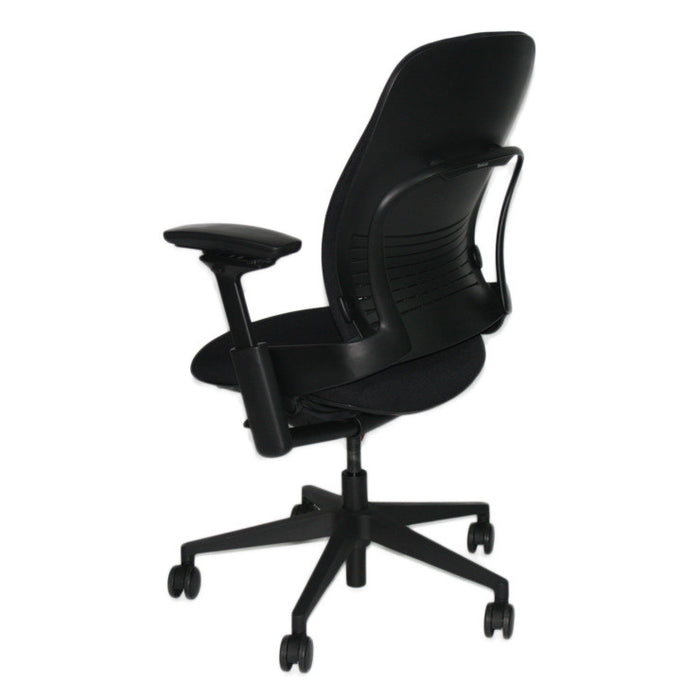 Steelcase Leap V2 Chair with black base in new black fabric