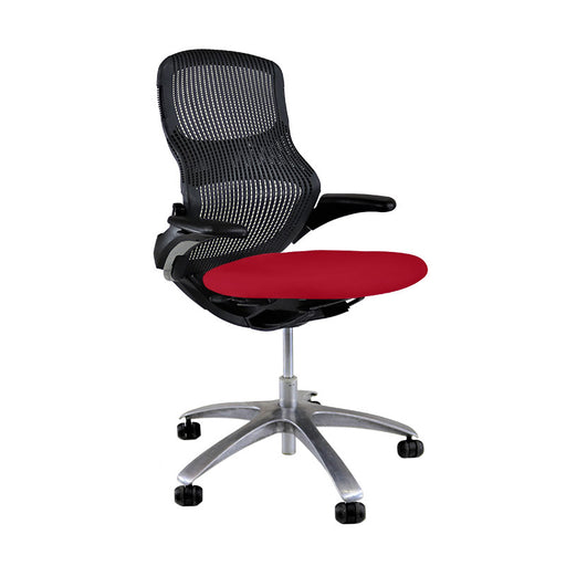 Knoll Generation - Black with New Red Seat